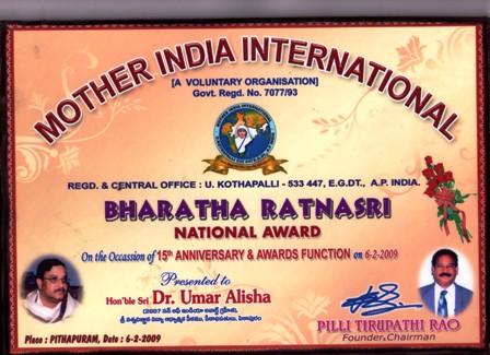 Bharata Ratnasri 2009